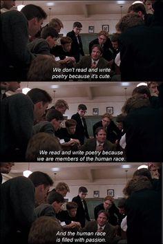 """non-sen-se: """" Dead Poets Society, 1989. """" #favouritemovie"""