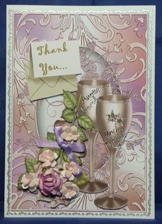 Thank You. 8 x 6 decoupaged card. Available now from: www.therhodaharveycollection.co.uk