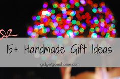 15+ handmade gift ideas by mrs. bennettar, via Flickr
