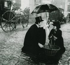 From the set of My Fair Lady (Jeremy Brett & Audrey Hepburn)