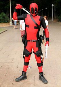 New lycra spandex zentai costume Deadpool Costume Cosplay S-XXL $45 on eBay