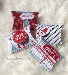 8x Geschenkbox Pillow Box Schachtel  Geschenk Verpackung Geburtstag Gastgeschenk