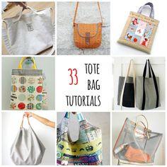 33 free tote bag tutorials