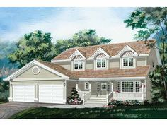 Home Plans HOMEPW23878 - 1,938 Square Feet, 4 Bedroom 2 Bathroom Country Home with 2 Garage Bays