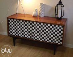 Komoda szachownica RETRO loft DESIGN vintage lakier połysk Warszawa - image 1