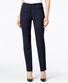 Alfani Slim-Fit Plaid Pants, Only at Macy's - Blue 8