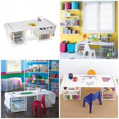 Kids Art Table - great idea