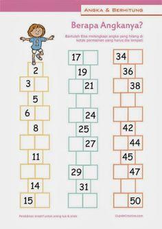 hitung angka 1-50, belajar anak 1 SD, deret bilangan berurutan