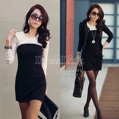 Lady Sexy Lace Silk joining together Skirt Clubbing Western Mini Dress