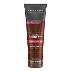 John Frieda Brilliant Brunette Visibly Deeper Color Deepening Shampoo, Ounce, with Evening Primrose Oil, Infused with Cocoa Primrose Oil, Evening Primrose, Shades Of Brunette, Brunette Hair, Blonde Hair, Brunette Highlights, John Frieda Brilliant Brunette, Brassy Hair, Hair Toner