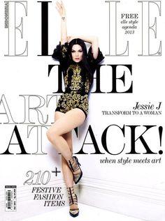 Jessie J , portada de Elle Indonesia: Diciembre 2012