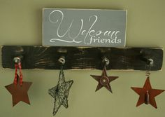 12 x 5.5  Wooden Sign Welcome Friends by OrchardHouseSigns on Etsy, $12.00