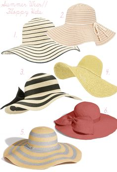 Floppy hats = summer style