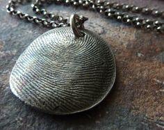 Your Own Fingerprint Necklace. Personalized by RenataandJonathan, $137.00