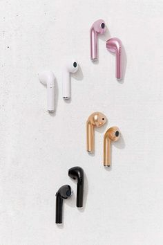 Urban Outfitters Wireless Ear Pod Headphones - Pink One Size Red Airpods Apple, Cute Headphones, Bridesmaid Gifts Unique, Accessoires Iphone, Air Pods, Coque Iphone, Travel Gifts, Bluetooth Headphones, Gifts For Teens