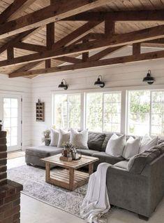 34 Wahnsinnige Bauernhaus Wohnzimmer Dekor Und Design Ideen