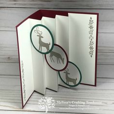 holiday cards Making elegant homemade Christmas cards can be easy and quick. Todays project was part of my Holiday Cards Stamp-a-Stack and includes simple stamping. Elegant Homemade Christmas Cards, Pop Up Christmas Cards, Diy Christmas Gifts, Xmas Cards, Holiday Cards, Christmas Cactus, Handmade Christmas, Christmas Music, Stampinup Christmas Cards