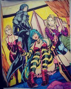 Alexion, Danger,Xirena & Simi. Colored by Rosalia M.
