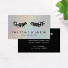 gemstone glam eyelashes makeup artist business card - makeup artist gifts style stylish unique custom stylist