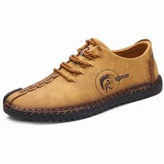Lace Up Faux Leather Stitching Casual Shoes #Men #Shoes #fashion #style