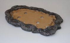 Bonsai Pottery: Post 133 Rock slab pot