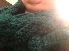 Crochet Braided Teal Infinity Scarf by FoskiCreations on Etsy