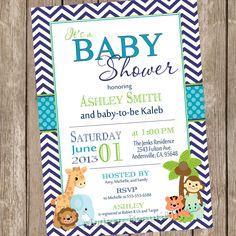 Boy Safari Baby Shower Invitation safari by ModernBeautiful, $13.00