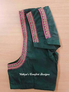 Patchwork Embroidery Simple 21 New Ideas Hand Work Blouse Design, Simple Blouse Designs, Saree Blouse Neck Designs, Bridal Blouse Designs, Simple Designs, Chennai, Maggam Work Designs, Simple Embroidery, Hand Embroidery