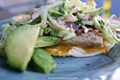 Fish Tacos with Apple Coleslaw and a Chipotle Yogurt Sauce