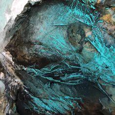 Gunesozmen painting  Detail Mix media on wood