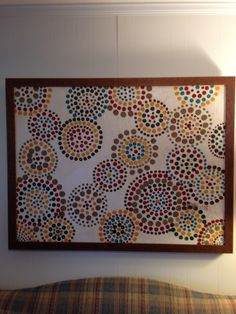 Lots of Dots. DIY----covered an oil that I did not use anymore, but loved the very nice frame!