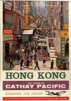 EWntwwk.jpg (540×768) Vintage Hong Kong Cathay poster
