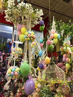 Easter egg clusters. Designed by Arcadia Floral & Home Decor