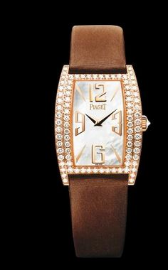 Piaget's Limelight Rose Gold watch steals the show with it's classic design and intricate detail.