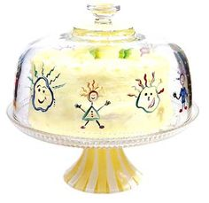 I think it would be really neat to reproduce your children's artwork on to a cake dome as a gift for Mother's Day, Grandmothers, that special aunt.