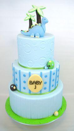 dino baby shower cake