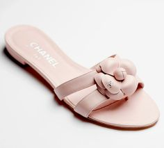 Chanel SS 2014 dainty flat sandals.