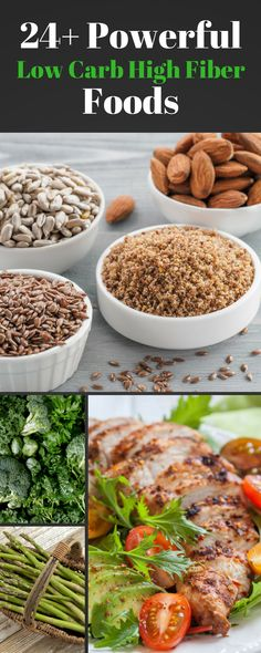 Fiber is so important for health - and is easy to overlook. This post highlights more than 24 different low carb high fiber foods. There are some surprises on the list too! #lowcarb #fiber #keto