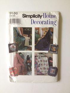 Simplicity 9186 pillow in a quilt uncut by BloomingRoseCrochet
