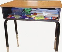 The NeatNook School Desk Organizer is a elementary school desk organizer specifically designed for children in grades first through fifth. It is a simple tool that will help students of all abilities to develop successful organizational skills in their habit-forming, elementary school years.