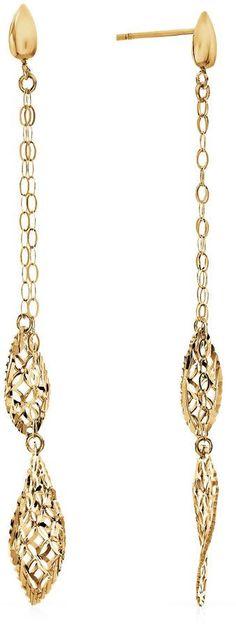FINE JEWELRY 10K Gold Drop Earrings