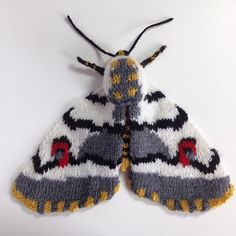 Max Alexander's knitted moths are incredible – I am simply blown away. LOVE! I also like the irony of using wool to knit moths – normally that combination strikes fear into the he…
