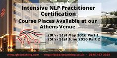 Interested in our ‪#‎NLP‬ Practitioner course? Why not learn more about or ‪#‎Athens‬ venue - If you are interested call the office on 0845 467 3039 or email enquiries@qfscoaching.co.uk