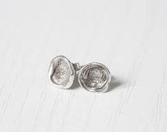 Orecchini a lobo in argento, realizzati a mano