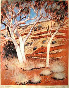 Elizabeth Durack limited edition print West End Australia Australian Icons, Australian Artists, West End, Limited Edition Prints, Moose Art, Landscape, Ranges, Illustration, Sisters
