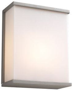 Originally saw on Houzz, comes in black too, Pinero Modern Silver with White PLC Outdoor Wall Light
