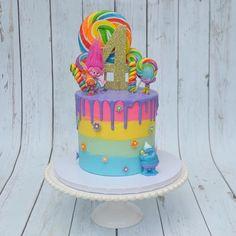 Mini financiers with grapefruit curd - HQ Recipes 4th Birthday Cakes, Trolls Birthday Party, Troll Party, 3rd Birthday Parties, Birthday Party Decorations, 2nd Birthday, Birthday Ideas, Bolo Trolls, Trolls Cakes