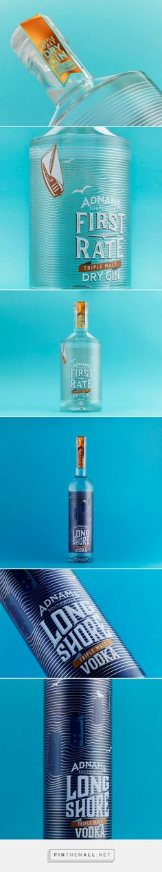 Adnams: LongShore & First Rate packaging design by CookChick - http://www.packagingoftheworld.com/2017/07/adnams-longshore-first-rate.html