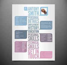 22 creative resume designs (although, we don't advise including your photo on a resume!)