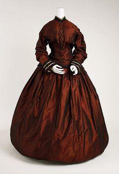 Dress 1851, American, Made of silk